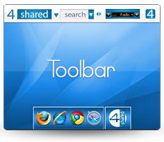 4shared Toolbar