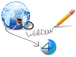 Access to 4shared with WebDav