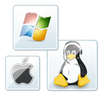 Windows, Linux and Mac operating systems support